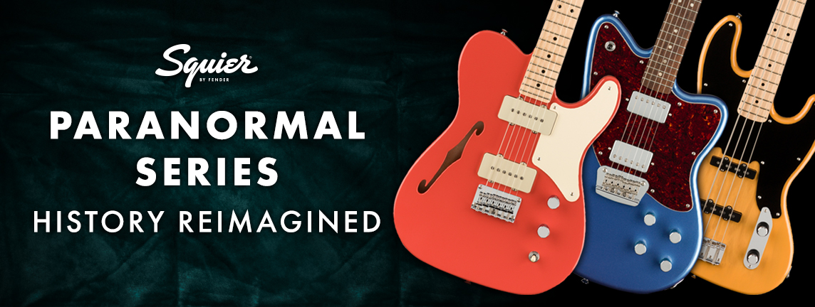 History Reimagined with the Squier Paranormal Series