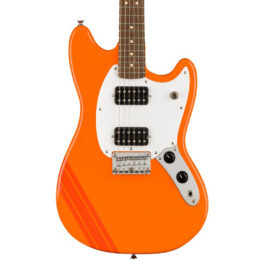 Squier Limited Edition Bullet Mustang® HH Electric Guitar – Competition Orange