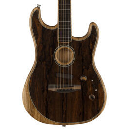 Fender Exotic Acoustasonic Strat® Acoustic/Electric Guitar – Ziricote