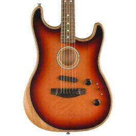 Fender Acoustasonic Strat® Acoustic/Electric Guitar – 3-Tone Sunburst