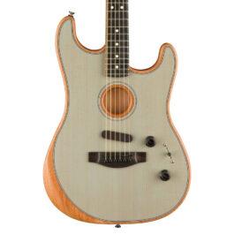 Fender Acoustasonic Strat® Acoustic/Electric Guitar – Transparent Sonic Blue