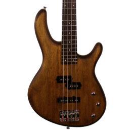 Cort Action 4-String PJ Bass – Open Pore Walnut