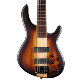 Cort C5 Plus ZBMH 5-String Bass Guitar w/ Markbass Pre – Open Pore Tobacco Burst
