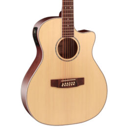 Cort GA-MEDX-12 12-String Acoustic-Electric Guitar – Open Pore Natural