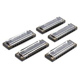 HOHNER Rocket 5 PC HARMONICA SET WITH CUSTOM CARRY CASE