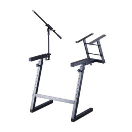 Proel EL280 Keyboard Stand With Microphone Boom Arm And Laptop Stand