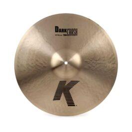 "ZILDJIAN K0904 18"" K Series Thin Dark Crash Cymbal"
