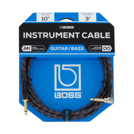 Boss BIC-10A – 3m Straight to Right Angled Instrument Cable
