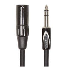 Roland RCC-10-TRXM – 3m Black Series TRS-XLR Interconnect Cable – 1/4″ TRS – XLR Male