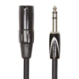 Roland RCC-5-TRXM – 1.5m Black Series TRS-XLR Interconnect Cable – 1/4″ TRS – XLR Male