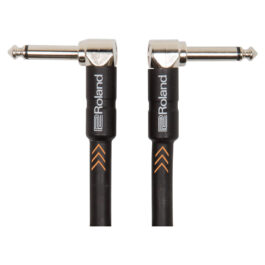 Roland RIC-B3AA 1m Angled 1/4″ – Angled 1/4″ Black Series Instrument Cable