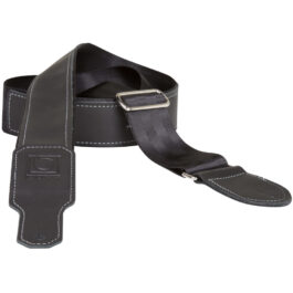 "Boss BSH-20 – 2"" Hybrid Nylon & Leather Instrument Strap – Black"