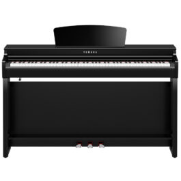 Yamaha CLP-725PE Clavinova Digital Piano with Bench – Polished Ebony