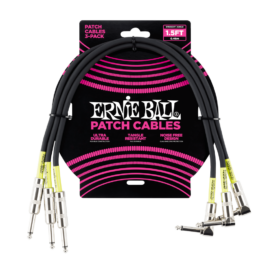 Ernie Ball Straight/Angle Patch Cables – 46cm – (3 Pack)