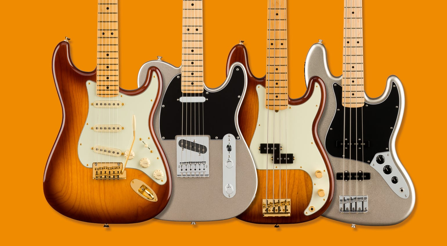 Fender Celebrates 75 Years with a Limited Range of their Iconic Shapes