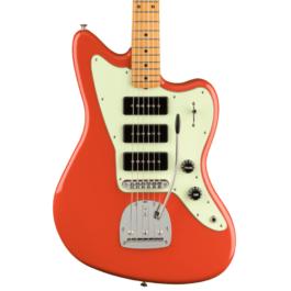 Fender Noventa Series Jazzmaster Electric Guitar – Maple Fretboard – Fiesta Red