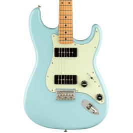 Fender Noventa Series Stratocaster Electric Guitar – Maple Fretboard – Daphne Blue