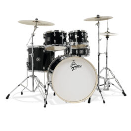Gretsch GE4E825ZB Energy 5-Piece Drumkit with Hardware and Meinl Cymbal Pack – Black