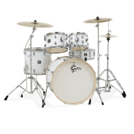 Gretsch GE4E825ZW Energy 5-Piece Drumkit with Hardware and Meinl Cymbal Pack – White